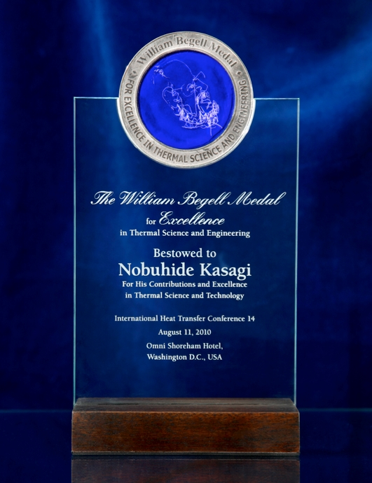 Professor Kasagi received The William Begell Medal for Excellence in